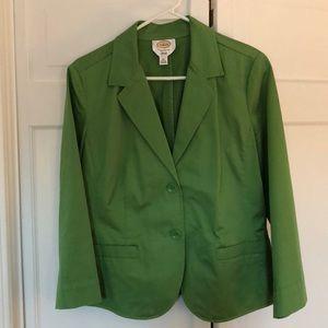 Talbots cropped sleeve blazer